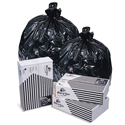 Pitt Plastics B74015K BlackStar Black Trash Bags - 33 x 39 - 33 Gallon Capacity - Medium Duty - .45 Mil - 250 per case - Flat Pack
