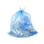 Napco Bag ST333912XT Blue Recycle Trash Bags - 33 x 39 - 33 Gallon Capacity - Extra Heavy Duty - 1.2 Mil - 100 per case - Flat Pack