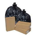 Pitt Plastics RP333920K 33 Gallon Re-Run 80% Recycled Content Low Density Trash Bags - Black in Color - 33 x 39 - 1.8 Mil - 150 per case - Flat Pack