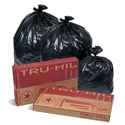 Pitt Plastics TM40XK Tru-Mil Black Trash Bags - 33 x 39 - 33 Gallon Capacity - Extra Extra Heavy Duty - 1.4 Mil - 125 per case - Perforated Roll